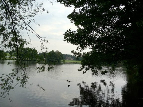 Locko Hall viewed from across the lake