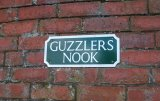 """Guzzler's Nook"" sign"