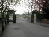 Former Field House gates, Park Road
