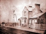 Station Master Joseph Chambers outside Spondon Station (Dated Dec. 1865)