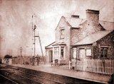 Station Master Joseph Chambers outside Spondon Station (Dated Dec. 1865)