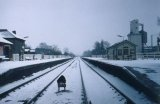 Spondon station under snow (mid-80s)